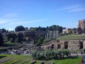 The Palatine; where Emperors walked.